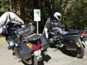 bikes parked at Bash Bish lot